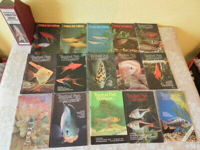 Vintage job lot bundle 15 Tropical Fish Hobbyist monthly magazines 1974-1981.