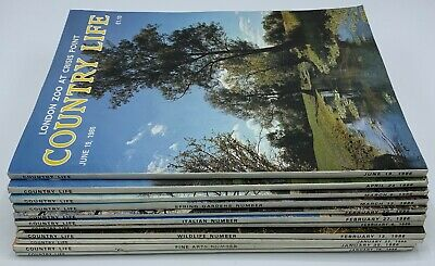Lot of Country Life Magazine x 11  Issues from 1986 January to June