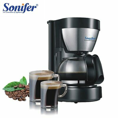 Electric Drip Coffee Maker 0.65L Household Coffee Machine 6cup Tea Coffee Pot