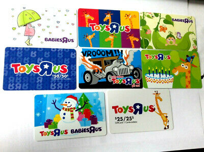 8X---TOYSRUS AND BABIESRUS COLLECTIBLE Gift Card New No Value X8