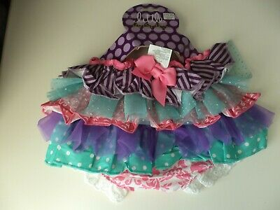 Little Wishes Baby Girl Tutu Diaper Cover - Size 6-12 Months - New