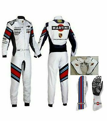 Martini Go Kart Racing Suit Cik Fia Level Ii Approved With Shoes & Gloves