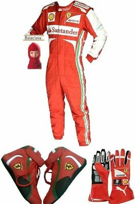 Ferrari Go Kart Racing Suit Cik Fia Level Ii Approved With Shoes & Gloves