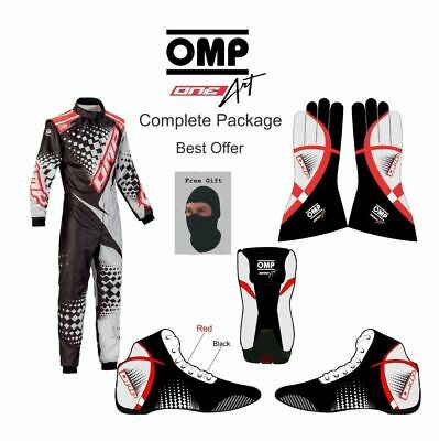 Omp-Go Kart Racing Suit Cik Fia Level Ii Approved With Shoes & Gloves