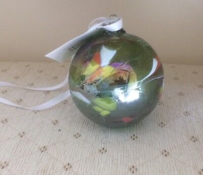 Small Green Milford Collection Hand Made Glass Friendship Globe