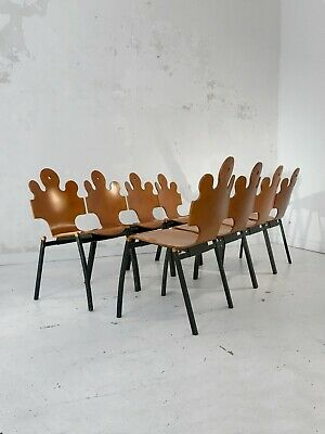 1980-1990 Tse-Tse 8 Chaises Puzzle Post-Moderniste Memphis Space-Age