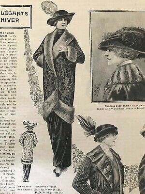 MODE ILLUSTREE October 12,1913+sewing pattern - Elegant coat, Mourning dress