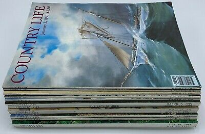 Lot of Country Life Magazine x 13  Issues from 1991 January to May