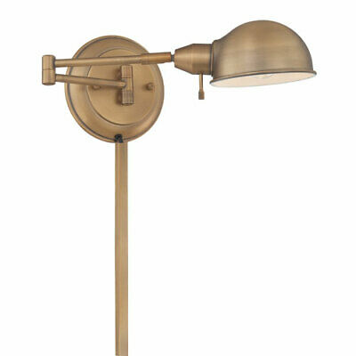 Lite Source Rizzo Antique Brass One-Light Swing-Arm Wall Lamp - LS-16753AB
