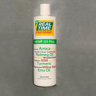 Real Time Pain Relief Hemp Oil Plus - 16oz XXL Bottle - NEW [+10% OFF 2nd Order]