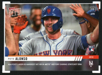 2019 Topps Now #74 PETE ALONSO Rookie RC NY Mets • SOLD OUT Print Run 1,313