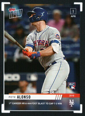 2019 Topps Now #32 PETE ALONSO Rookie RC NY Mets • SOLD OUT Print Run 1,804