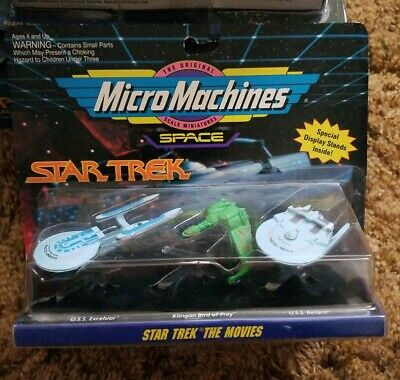 Micro Machines Space Star Trek Movies Set #2 USS Excelsior Bird of Prey Reliant