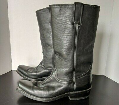 Boots Boulet 2132//0017 bout carré large noir made in CANADA