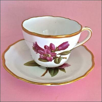 """Vintage Spode Copeland's China """"Rhododendron""""English Bone China Tea Cup/Saucer"""