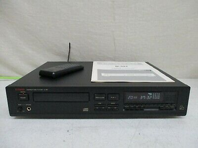 Vintage Luxman D-351 Compact Disc Player Cd Player+ Manual & Remote Made Japan E