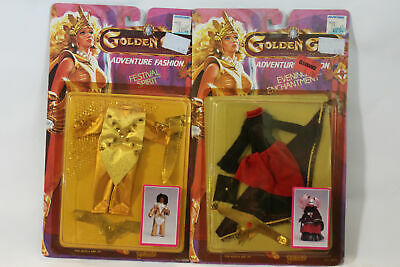 LOT of 2 Vintage 1984 Galoob Golden Girl Adventure Fashion Outfits NIP