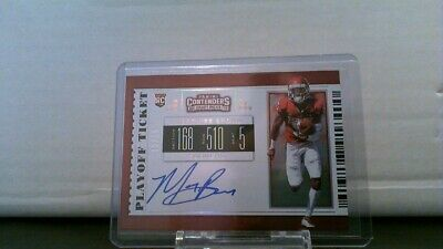 2019 Contenders Draft Picks Playoff Ticket Auto /18 Marquise Brown Sooners