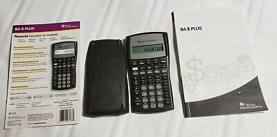 Texas Instruments BA II Plus Financial Calculator W/ Case booklet & Manual