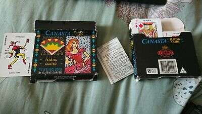 2 Sets Of Vintage Canasta Playing Cards