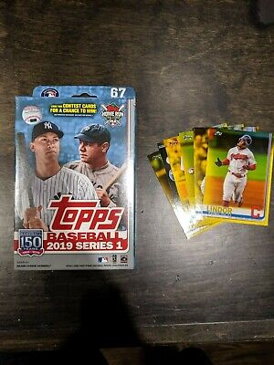 2019 Topps Series 1 Walgreens Exclusive Unopened Hanger Box - Yellow Parallels