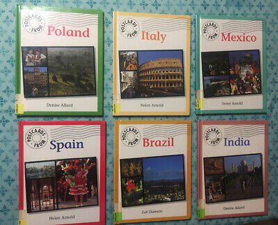 Postcards From Brazil India Spain Italy Mexico Poland Hardback Books For Kids