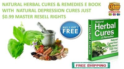 Natural Herbal Cures & Remedies E Book With  Natural Depression  Cures Just$0.99