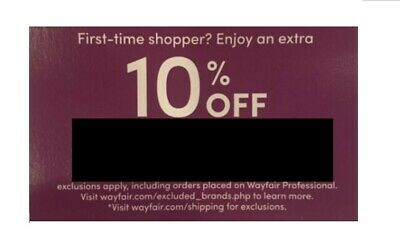 Wayfair 10% off first order coupon (SENT QUICKLY!)