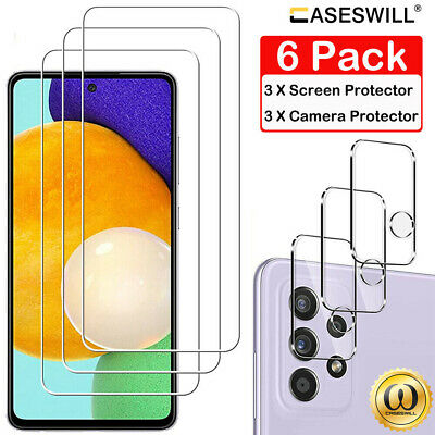 3-Pack Samsung Galaxy A70 A50 A40 A30 A20 A10 HD Tempered Glass Screen Protector