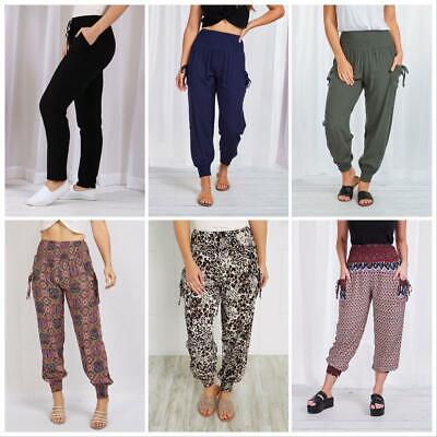 Caroline Morgan Harem Pants Women Casual Baggy Hippie Bohemian Yoga Beach Travel