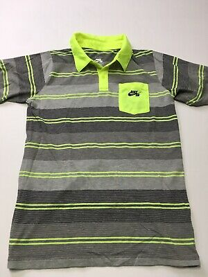 944bae1b New Nike SB Dri Fit Striped Polo Mens Shirt Barely Grey/White Boys XL Or