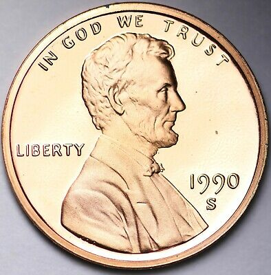 PROOF 1990 S Lincoln Memorial Cent Penny FREE SHIPPING