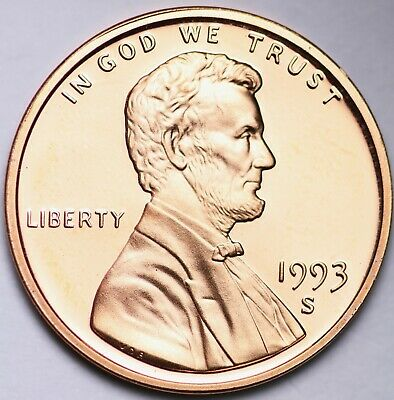 PROOF 1993 S Lincoln Memorial Cent Penny FREE SHIPPING