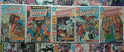 Justice League america #186, 192,193,194,195 used bagged and boarded