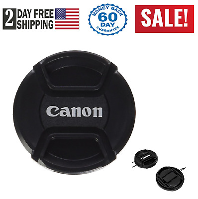 Lens Cap Front Cover Snap For Canon Dslr Camera Pinch 58Mm 18-55Mm E-58 Ii New