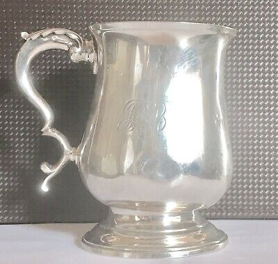 240 years old antique sterling silver tankard or cup , London ,1779