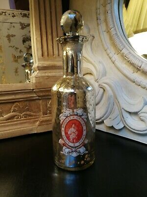 New Vintage Victorian Style French Shabby Chic Glass Perfume Bottle