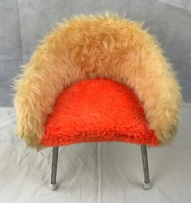 Vintage 60'S Orginal Small Chair Childs Moumoute Kitch
