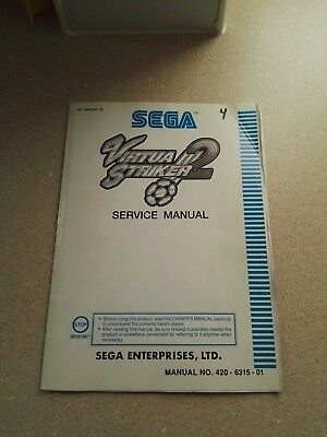 SEGA Virtua Striker 2 Original Service Manual