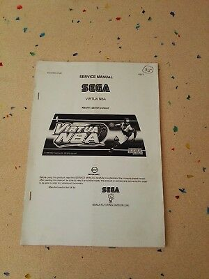 SEGA Virtua NBA Original Service Manual