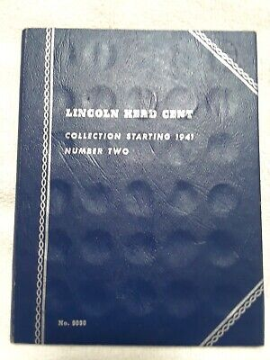 Whitman Lincoln Head Cent Coin Album Collection starting 1941