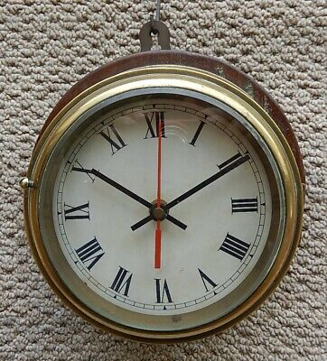 Superb Brass Case Ships's clock. Fully working 2966