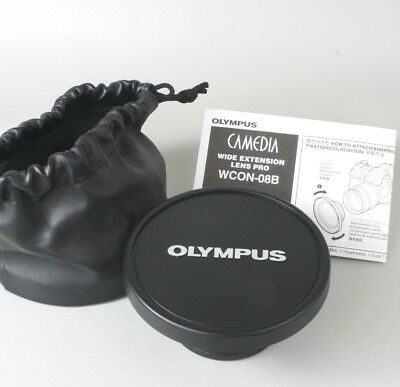 Olympus Camedia WCON-08B Wide Extension Lens Pro 62mm to 105mm Adapter Japan