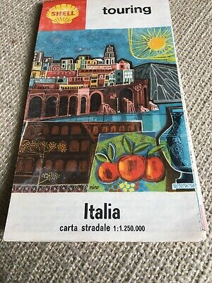 Shell Touring Italia Map 1964