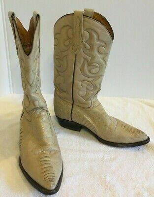 0cbc4091f89 VINTAGE RUDEL WESTERN Cowboy Brown Leather Boots Men's size 10.5 EE ...