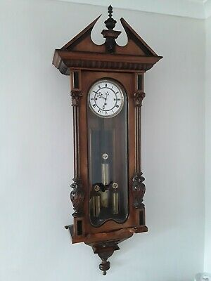 Antique Vienna Wall Clock 4ft in length triple wieght