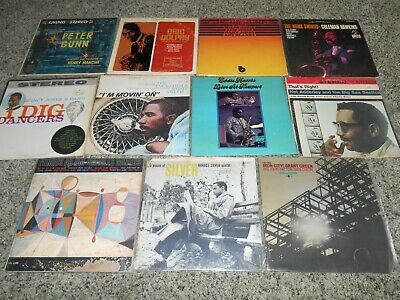 Lot of 11 Jazz LP Vinyl Blue Note Riverside Silver Mingus Green Eric Dolphy