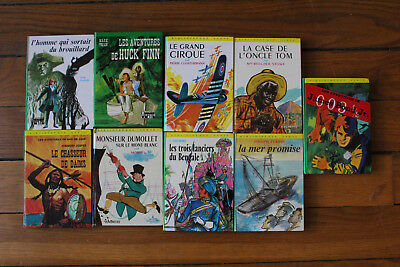 LOT 9 Bibliotheque Verte (James Bond Jr, Monsieur Dumollet, Huck Finn, etc.)
