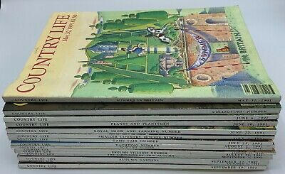 15 issue Joblot of Country Life Magazines May to September 1991