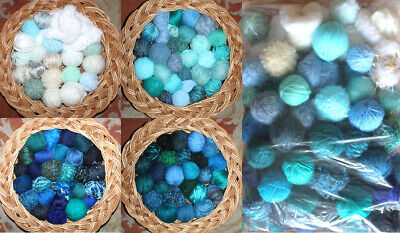 1410g Job Lot Mixed Wool/Yarn 98 Balls/textures Sea Surf Wave Aquamarine